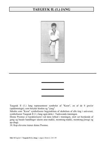 Taegeuk - il-jang - Slagelse Taekwondo klub