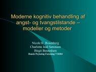 Moderne kognitiv behandling af angst- og ... - Angstforeningen