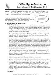 Referat bestyrelsesmøde 6 - 2012