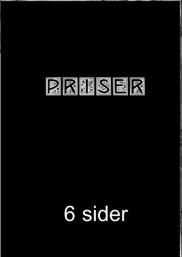 Priser 6 sider - hans eget website