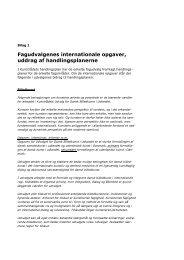 Fagudvalgenes internationale opgaver, uddrag af handlingsplanerne