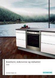 Komfurer, mikroovne og emhætter - Siemens