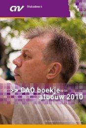 CAO boekje afbouw 2010 - PRO Payroll