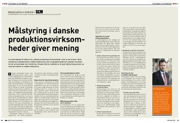 Mål- og resultatstyring i SCM-magasinet - Immenso Consult