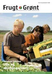 Lille og alsidigt gartneri - Gartneribladene