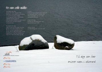 Til deg som har mistet noen i selvmord - St. Olavs Hospital