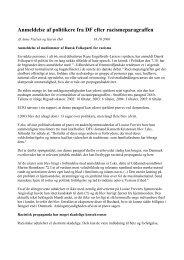 Anmeldelse af politikere fra DF efter ... - SOS mod racisme