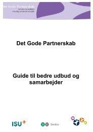 Det Gode Partnerskab Guide til bedre udbud og samarbejder