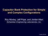 Capacitor Bank Protection for Simple and Complex Configurations