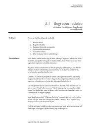 3.1 Begrebet ledelse - Cubion