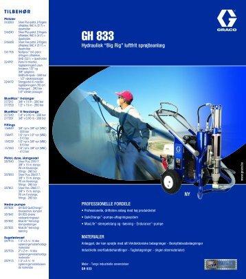 """320593D , GH 833 Hydraulisk """"Big Rig"""" luftfrit sprøjteanlæg"""