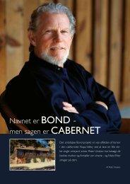 Navnet er Bond - men sagen er CaBernet - Bergman Vin-Import