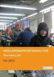 For 2012 - Stormberg