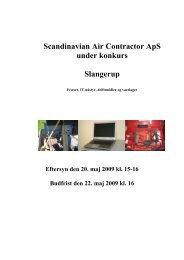 Scandinavian Air Contractor ApS under konkurs ... - konkurser.dk