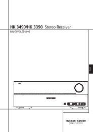 HK 3490/HK 3390 Stereo Receiver