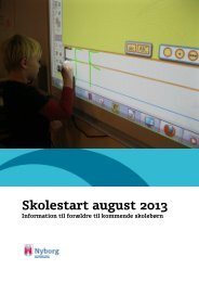 Skolestart august 2013 - Nyborg Kommune