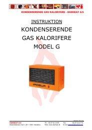 Gaskalorifere G instruktion - Danheat A/S
