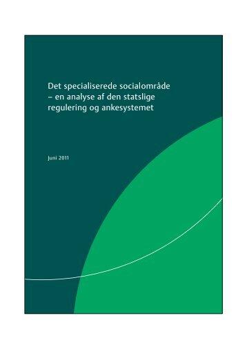 en analyse af den statslige regulering og ankesystemet - Social