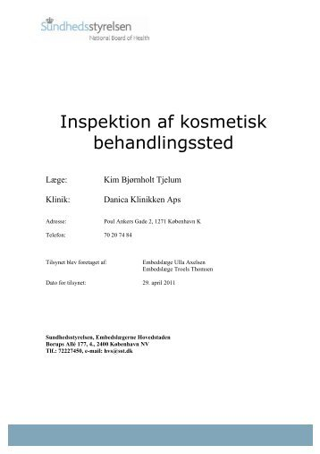 Inspektion af kosmetisk behandlingssted - Ekstra Bladet
