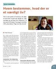 Kristelig Handicapforenings blad, KH-bladet - Retten til liv