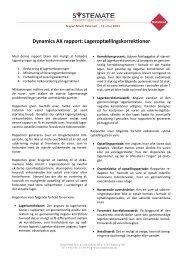 Dynamics AX rapport: Lageroptællingskorrektioner - Systemate