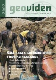 Små-skala guldminedrift i udviklingslande - Geocenter København