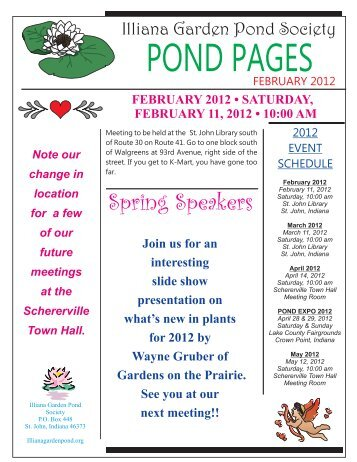 February 2012 - Iliana Garden Pond Society