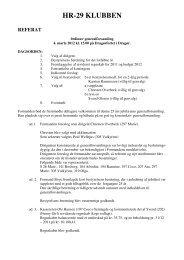 Referat fra generalforsamlingen 4. marts 2012 - HR 29 klubben