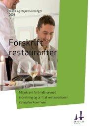 Forskrift restauranter - Slagelse Kommune