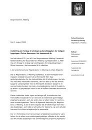 Århus Kommune Borgmesterens Afdeling Den 3. august 2005 ...