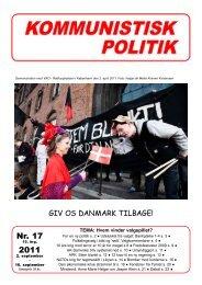 Nr. 17 2011 - Kommunistisk Politik