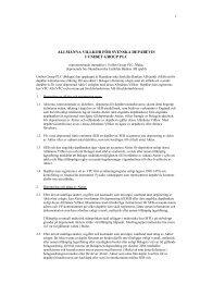allmänna villkor för svenska depåbevis i unibet group plc