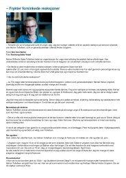 – Frykter forsinkede reaksjoner - Mental Helse Ungdom
