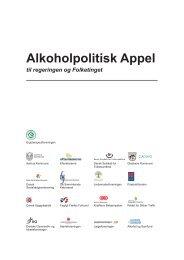 Læs Alkoholpolitisk Appel - Jordemoderforeningen