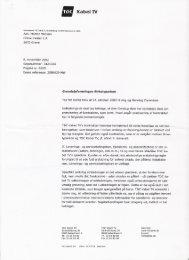 Udbedring af stikledning for TDC Kabel TV - Birkelyparken