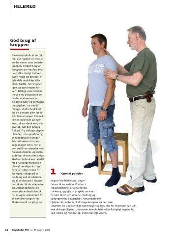 helBred God brug af kroppen - alexanderteknik