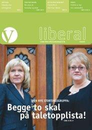 Last ned Liberal nr. 6 som PDF. - Venstre