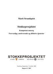 Stokkeprosjektet - Biblioteket - Høgskolen i Vestfold