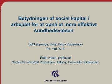 Betydning af social kapital i arbejdet for at opnå et mere effektivt ...