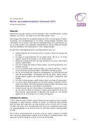 Børne- og ungdomsulykker i Danmark 2011 - Forsikring & Pension