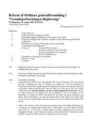 """Referat af Ordinær generalforsamling i """"Grundejerforeningen ..."""