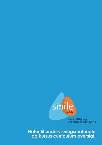 Noter til undervisningsmateriale og kursus curriculum ... - SMILE-VET