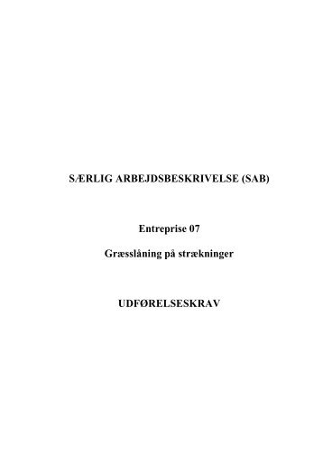 Særlig Arbejdsbeskrivelse incl. rettelser