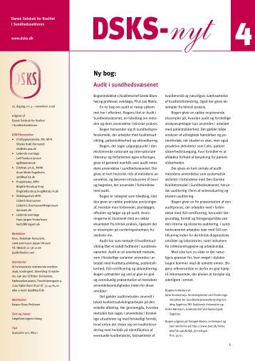 Ny bog: - DSKS - Dansk Selskab for Kvalitet i Sundhedssektoren