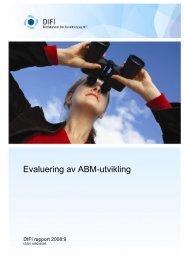 Evaluering av ABM-utvikling - Difi