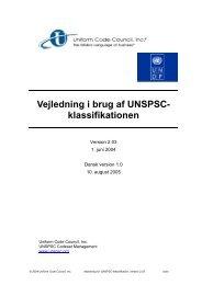 Dansk oversættelse af UNSPSC Classification ... - GS1 Denmark