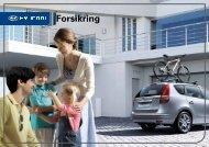 Hyundai forsikring brosjyre