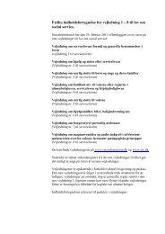 Fælles indholdsfortegnelse for vejledning 1 – 8 til lov - Social