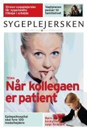 Sygeplejersken 2011 nr. 17 - Dansk Sygeplejeråd