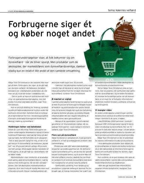 KØER MED hØjt til loftEt - Økologisk Landsforening